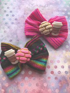 Image of Concha/Coffee Hair Bow Image of Concha/Coffee Hair Bow Handmade Hair Bows, Diy Hair Bows, Ribbon Hair, Ribbon Bows, Ribbon Flower, Fabric Flowers, Diy Tutu, Coffee Hair, Diy Disney Ears