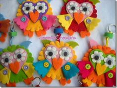 more felt owl ideas