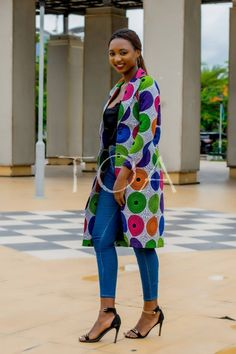 Items similar to Ankara Jacket, The Luxor Ankara Blazers, Long African Print Jacket on Etsy African Print Dresses, African Print Fashion, African Fashion Dresses, African Dress, African Attire, African Wear, Luxor, African Blouses, African Traditional Dresses