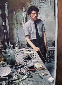 """""""Failure is my best friend. If I succeeded, it would be like dying. Alberto Giacometti, Artist Art, Artist At Work, Famous Artists, Great Artists, Modern Art, Contemporary Art, Portrait Studio, Art Sculpture"""