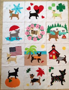 New! Year of Chihuahua Quilt Block Pattern on Etsy!!