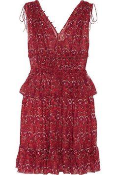 Ulla Johnson - Noelle Printed Silk-georgette Mini Dress - Red - US
