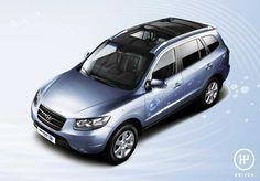 2008 Hyundai Santa Fe Blue Hybrid Concept
