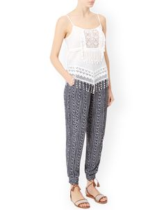 Camie Printed Tapered Leg Trouser
