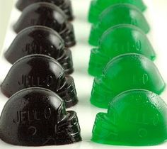 Football Jell-O Shots -- make them blue & red! Use these molds → http://pinterest.com/pin/205899014183636295 | #Patriots vs. #Giants