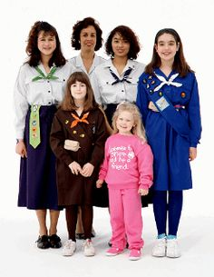 I wore those brownie and guide uniforms... and the brownie uniform prior to this version.  With the knee high sock!  Remember those?