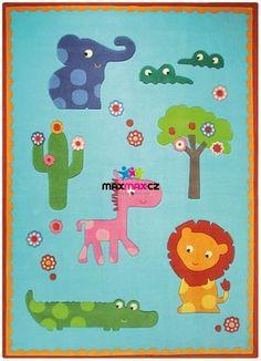 Dětský koberec ZOO blue (3634-02)