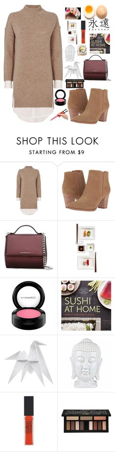 """Untitled #97"" by brianna-johnson-4 ❤ liked on Polyvore featuring Brochu Walker, Franco Sarto, Givenchy, Villeroy & Boch, MAC Cosmetics, Lab, Hermès, Maybelline and Kat Von D"