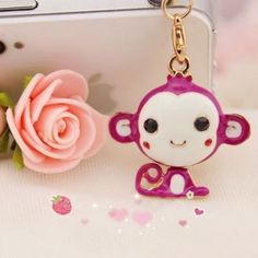 A very nice friendly and smiling monkey is enticing you to purchase this model. The monkey is a combination of white and purple color with two black eyes. The back side of the monkey is golden in color which is very shiny. Another very interesting thing that will certainly draw your attention is that the position or shape of the tail of this monkey. Find more cute headphone jack plugs from www.iphonejackplug.com