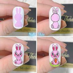 Cartoon Nail Designs, Easter Nails, Nail Art, Video, Instagram, Finger Nails, Animal Nail Designs, Nail Decorations, Nail Manicure