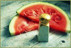 salt on watermelons :)