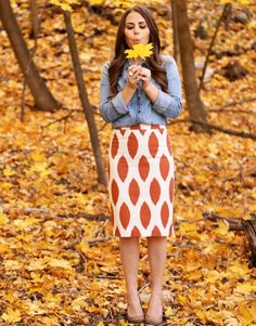 the Ikat Skirt: Rust.