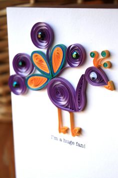Huge Fan Peacock Card by SweetSpotCardShop on Etsy, $8.00
