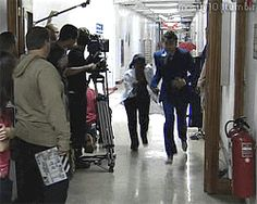 Doctor Who - Smith an Jones behind the scenes GIF - Love It!!!!
