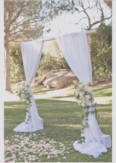 Real wood wedding arch with a chandelier !