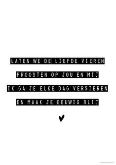 liefde vieren versje gedicht studio marlies / marliesdebaat.nl