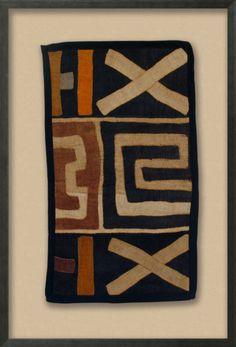 Tabwa Kuba Cloth, with color Dimensional Product at Art.com