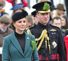The Duke of Cambridge wears the insignia of the Aide-de-Camp for the first time, as he is appointed as such by the Queen, March 2013