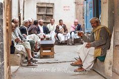 Drinking tea | OLD SANA'A Yemen