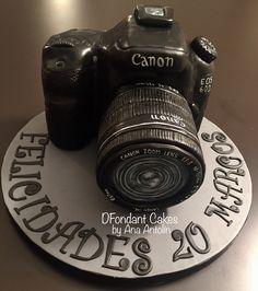 Tarta de fondant cámara fotos. DFondant Cakes