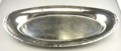 RARE Wallace Carmel Sterling Silver Bread Tray 1519-6 Design 6.41ozt #956 #Wallace