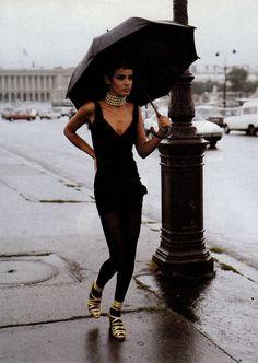 photography fashion vogue Model Italy december 90s supermodel editorial photographer 1991 Tiziano Magni Nadege du Bospertus