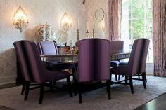 Elegant dining room #purple #lavender #gold