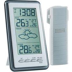 Draadloze thermometer WS 9130-IT (Zendergestuurde klok (DCF77) Binnentemperatuur Buitentemperatuur Max. 1 sensor Weervoorspelling Tendensweergave(n)  Blijft u thuis? Of toch nog een last minute naar de zon? Dit weerstation met weergave voor binnen- en buitentemperatuur weersverwachtingsymbolen en weertrendindicatoren gee... Klik verder voor meer info.  EUR 24.99  Meer informatie