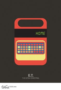 E. T. - Minimalist Movie Poster