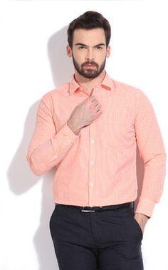Buy John Miller Men's Checkered Formal Shirt Online at Best Offer Prices @ Rs. 949/- In India.