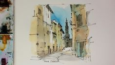A demonstration of my Favorite urbansketching techniques. Pen and wash o...