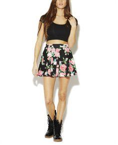 Floral Ponte Skater Skirt | Wet Seal - InStores