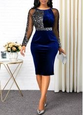 Black Long Sleeve Back Slit Bodycon Dress New Year Eve Party Dress Sequin Dress Sequin Embellished Back Slit Black Dress Panel Dress, Slit Dress, Bodycon Dress, Sheath Dress, Embellished Dress, Sequin Dress, Sexy Dresses, Dresses For Sale, Trendy Dresses