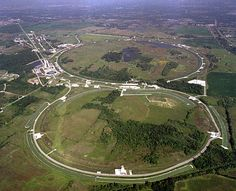 Aerial view of Fermilab showing the accelerator rings, Batavia, IL Chicago Area, Chicago Illinois, North Aurora, Road Trip Across America, Forest Preserve, Bike Path, My Kind Of Town, Valley View, Family Day