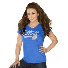 Women's Touch by Alyssa Milano Royal Blue Chase Elliott Alumni V-Neck T-Shirt http://www.uksportsoutdoors.com/product/puma-womens-active-forever-cover-up-hoody/