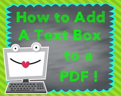 Adding Text to a PDF - step by step instructions, really simple.