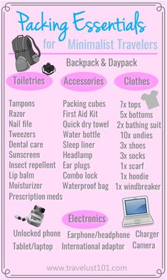 Packing Essentials | Packing List | Packing checklist for Minimalist Traveler | If you are looking for a list of basic essentials to get you started on your travels, print this FREE checklist! #packinglist #travelpackinglist #backpackingpackinglist #solotrippackinglist #packinglistforwomen #womenpackinglist