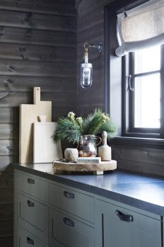 Shop Original BTC Lighting @ Olson and Baker Scandinavian Cabin, Davey Lighting, Modern Log Cabins, Rustic Bedroom Design, Kitchen Corner, Cabin Interiors, Glass Pendant Light, Log Homes, Lighting Design