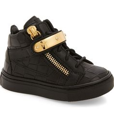 separation shoes 1ac5b f2e7c Main Image - Giuseppe Zanotti High Top Sneaker (Baby, Walker, Toddler    Little