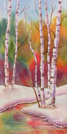 ART Fine~ The Trees Are Bare, It's Winter Time, Their Leaves The Colour Of Autumn Wine~ Fine Art Of America.