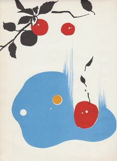 1960s science Vintage print Apple Falling by AnemoneReadsPaperie, $10.00