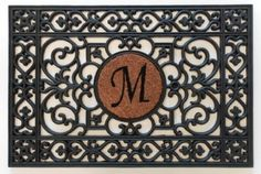 Outdoor Décor-Home  More 160012436M Doormat 24 x 36 x 060 Monogrammed Letter M Black -- Check this awesome product by going to the link at the image.