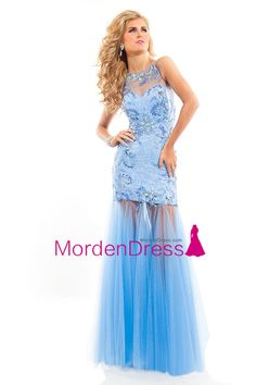 Radiant and Stunning Lace /Soft Tulle Two Straps Flare Long Gown by Rachel Allan Style Call to Order Your Rachel Allan Prom Dress 6821 Today! Mermaid Prom Dresses Lace, Prom Dresses 2016, Lace Evening Dresses, Prom Dresses Blue, Formal Dresses, Prom 2016, Low Back Dresses, Pageant Gowns, Spring 2016