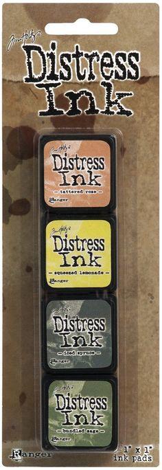 Ranger Tim Holtz Mini Distress Ink Pad Kit 10- TDPK40408: Amazon.co.uk: Kitchen & Home