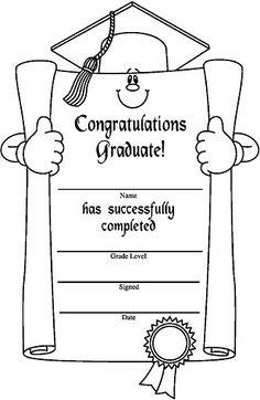 English worksheet: Printable Certificates, Graduation