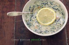 The Vanilla Bean Blog | Lemon Mushroom Spinach Soup