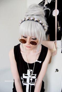 Updo White Hair