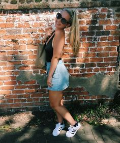 Adidas Superstar, White Shorts, Spring, Sneakers, Summer, Closet, Outfits, Women, Fashion