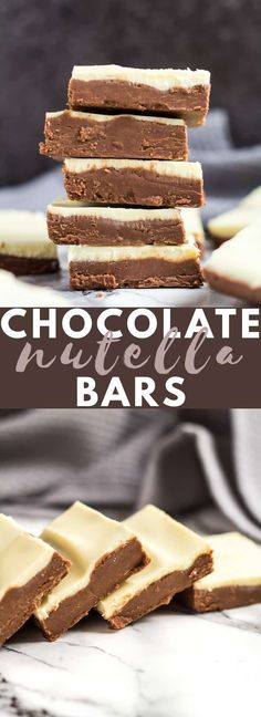 No-Bake White Chocolate Nutella Bars-Deliciously creamy and. No-Bake White Chocolate Nutella Bars-Deliciously creamy and fudgy no-bake Nutella bars topped with white chocolate. A perfect quick and easy chocolate treat! Nutella Bar, Easy Nutella Brownies, Nutella Slice, Köstliche Desserts, Chocolate Desserts, Dessert Recipes, Chocolate Slice, Tray Bake Recipes, Baking Recipes