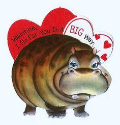 Vintage Valentine Day Card, Valentine, I Go For You In A Big Way, Hallmark Cards, Circa 1963.